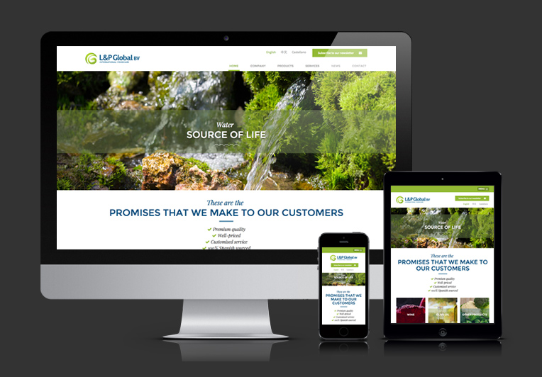 Web responsiva de L&P Global