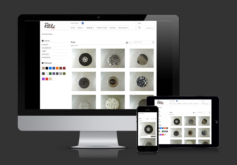 Web responsiva de Pil·lú Fashion